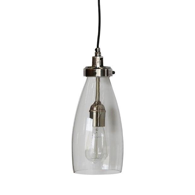 LUCCI HANDBLOWN GLASS & SILVER PENDANT LIGHT