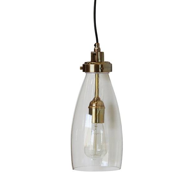 LUCCI HANDBLOWN GLASS & BRASS PENDANT LIGHT