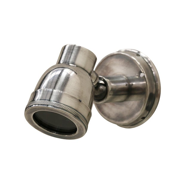OUTDOOR WALL MOUNTED BRASS SPOT LIGHT WITH ANTIQUE SILVER FINISH IP54