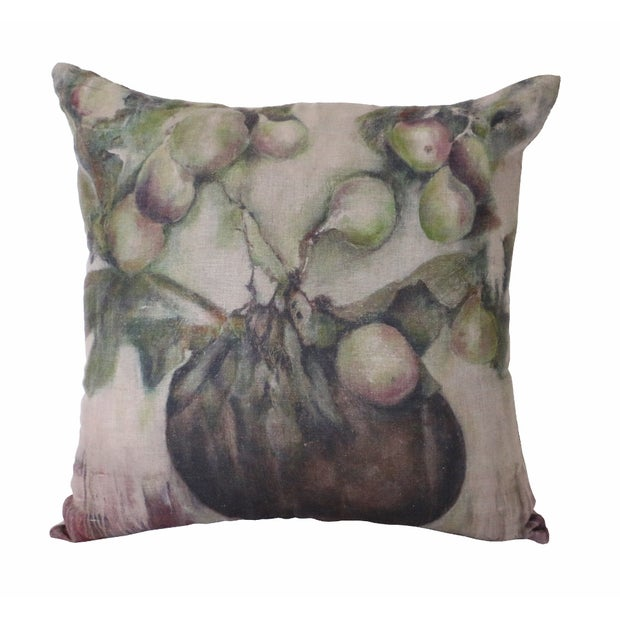 IVY & FIG LINEN CUSHION COVER 55 X 55