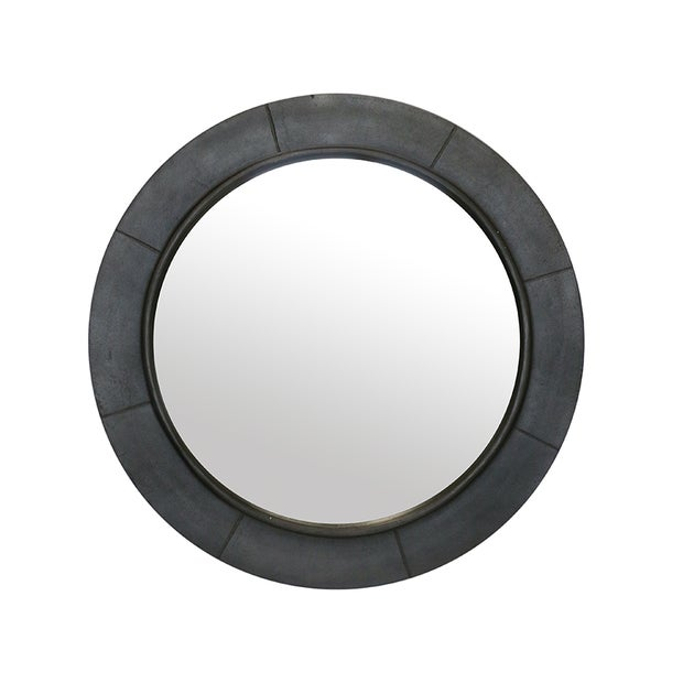 Brooklyn Round Segemented Mirror in Pewter Finish 69dia