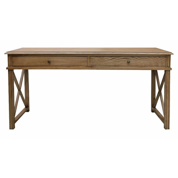 CONSOLE 2 DRAWERS IN NATURAL OAK