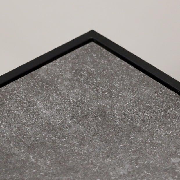 Saville Stone & Steel Coffee Table 1200L