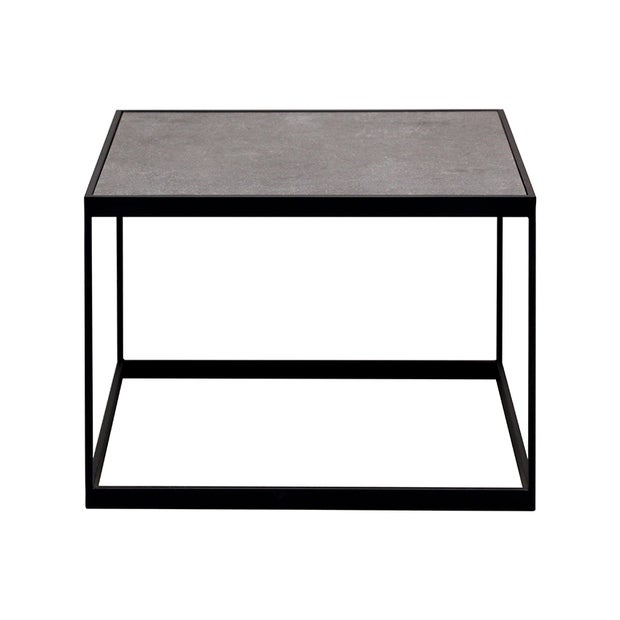 Saville Stone & Steel Occasional Table